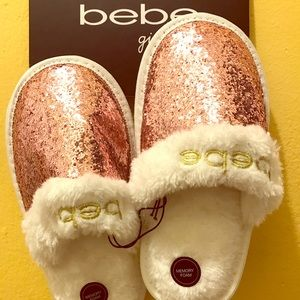 Bebe Kids Girls Slippers Size 2/3 ( L) New.